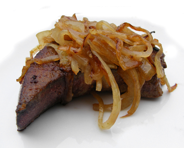 Pig's_liver_with_sauteed_onion