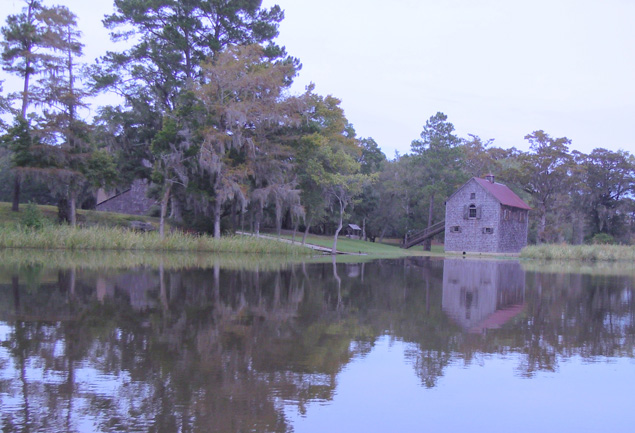 Civil War-era rice barn on Pee Dee River near  Waccamaw NWR, SC
