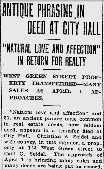 To Leland, for natural love and affection | The Legal