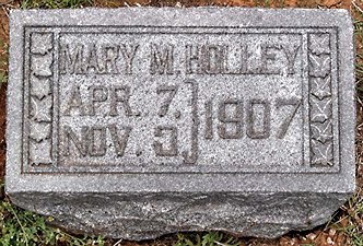Mary Holley marker