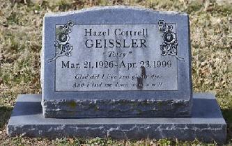 Hazel Geissler stone