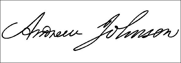 Andrew Johnson signature