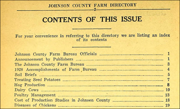 Johnson Farm Directory
