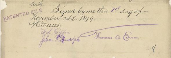 Edison patent signature