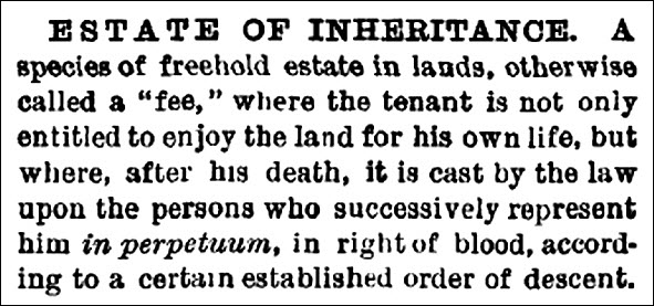 estate of inheritance