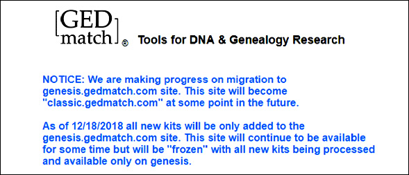 Genesis at GEDmatch | The Legal Genealogist