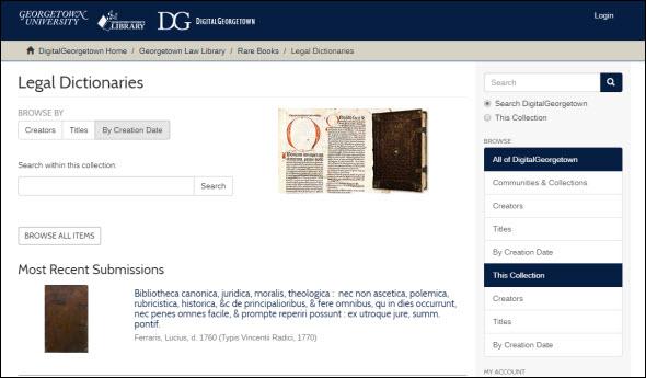 Georgetown Legal Dictionaries