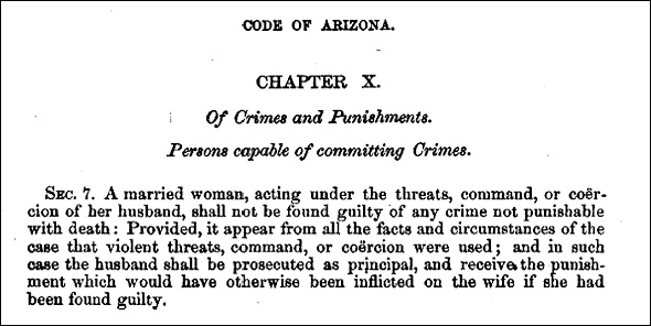 Arizona duress law