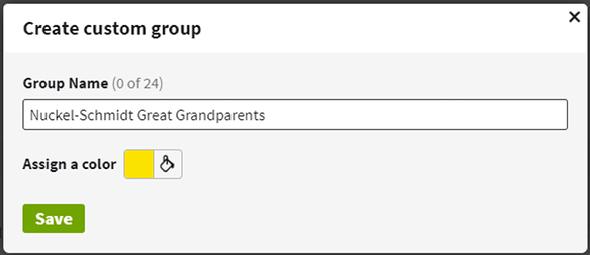 custom group