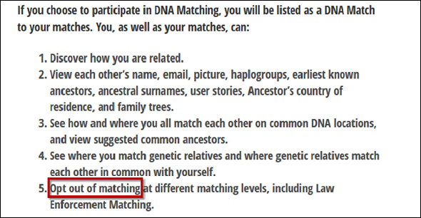 Matching consent