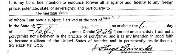 Hugo declaration
