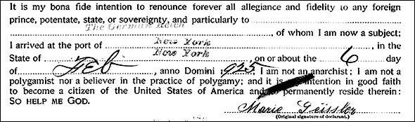 Marie declaration