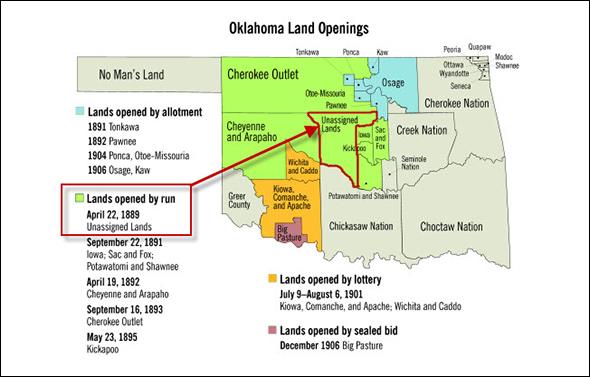 Oklahoma land openings