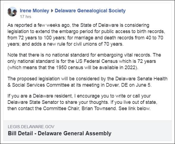Delaware action alert