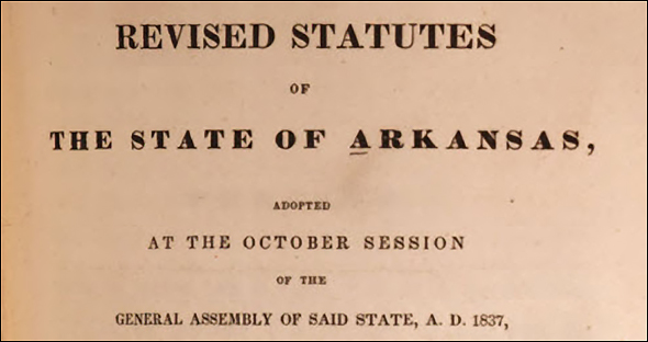 Arkansas revised statutes