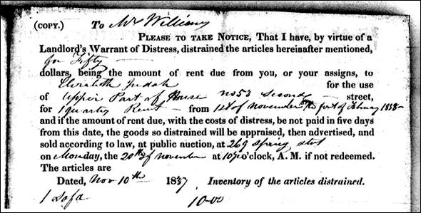 Warrant of distress