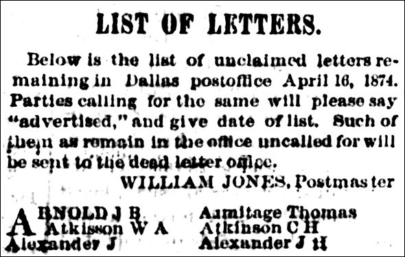 dead letter notice