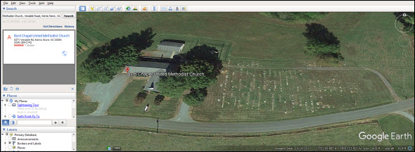 Byrd Chapel-Google Earth