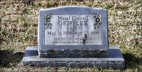 Hazel Geissler tombstone