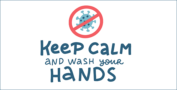 stay calm & wash hands