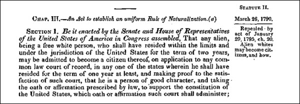 1790 naturalization law