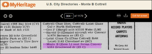 San Diego 1958 directory