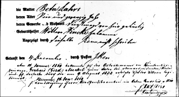 Anna birth note