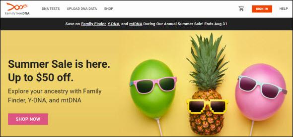 FTDNA summer sale
