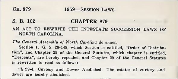 NC Laws of 1959