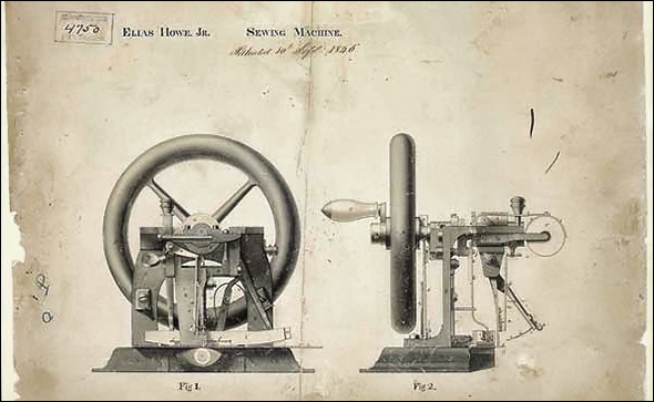 Sewing machine patent