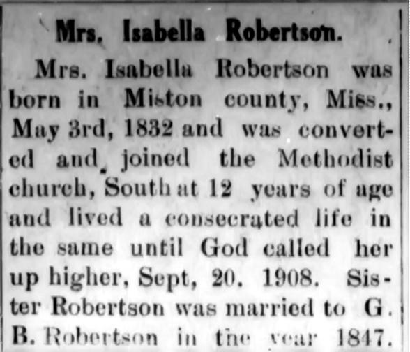 Isabella obituary