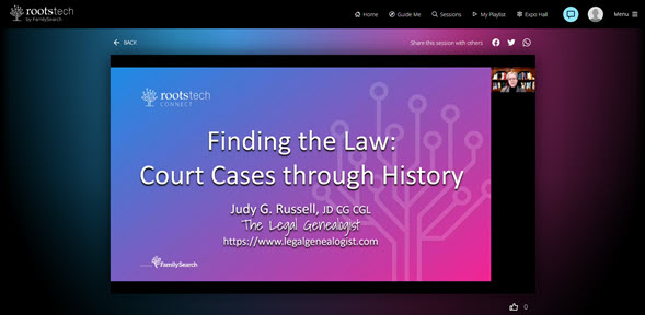 RootsTech law sessions