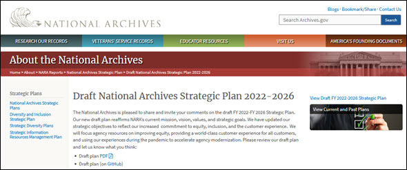NARA strategic plan